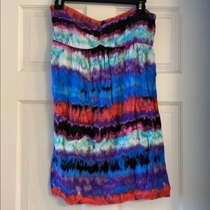 Xhilaration strapless tie dye dress